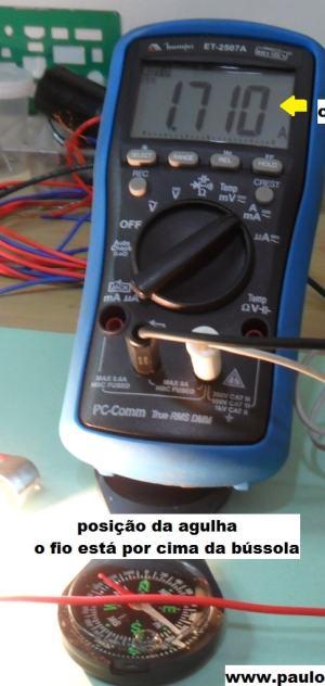 Fig 5 - Bússola com fio por cima