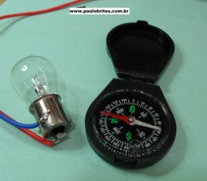 Fig.3 - Bússola e Lâmpada de 12V