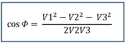 Fórmula para cálculo do cos fi