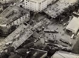 Queda do elevado Paulo de Frontin 1971 -foto Jornal do Brasil