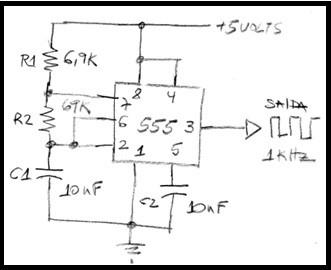 Fig.1 - Oscilador astável com LM555