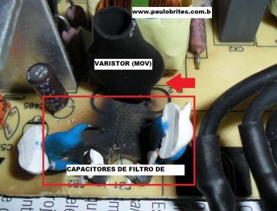 Fig. 6 - Varistor na placa da fonte