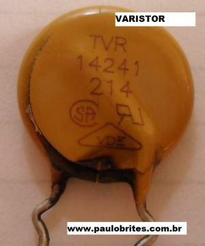 Fig.7 - Varistor retirado da placa da fonte