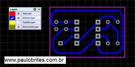 Fig. 22 - Layout do Oscilador 555