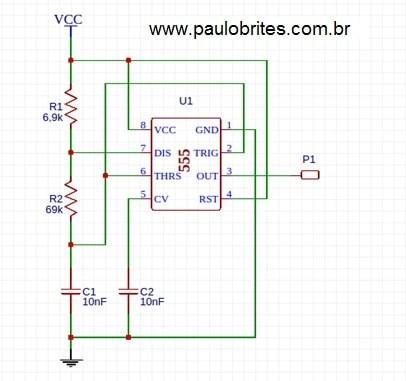 Fig. 17 – Esquemático final com a correção dos capacitores