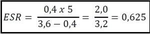 Cálculo da ESR 2