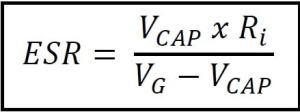 Fórmula para calcular ESR-min