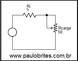 Fig.6 - Medindo a resistência interna de um gerador de tensão