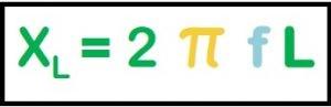 Fórmula para cálculo da reatância indutiva