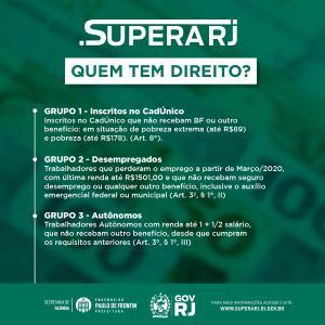 Read more about the article Auxílio Emergencial do Estado do Rio de Janeiro – Supera RJ