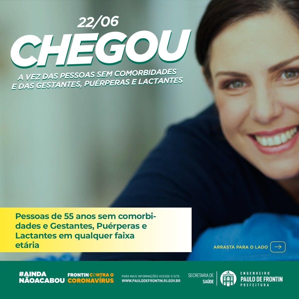 Read more about the article A Secretaria Municipal de Saúde inicia a vacinação das pessoas sem comorbidades