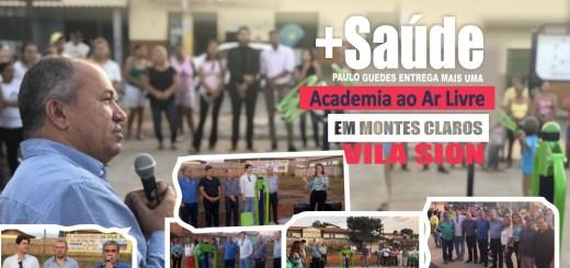 Deputado Paulo Guedes atendeu reivindicação do vereador Leão; academia foi instalada no bairro Vila Sion