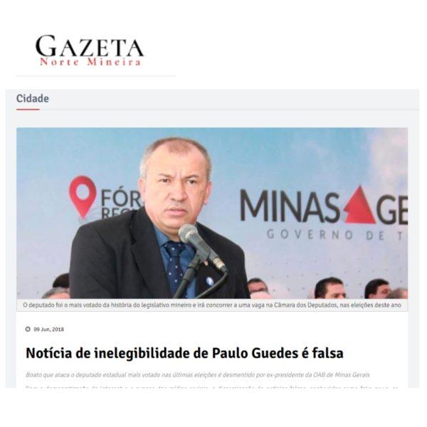 Deputado Paulo Guedes é condenado por improbidade