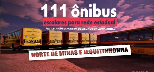 Governo de Minas Gerais entrega 111 ônibus escolares em Porteirinha
