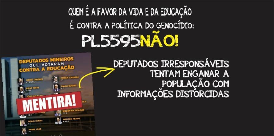 DEPUTADO FEDERAL PAULO GUEDES, DIGO NÃO À POLÍTICA GENOCIDA E AO PL 5595/2020.  ✅ A MINHA LUTA É PELA EDUCAÇÃO E PELA VIDA!