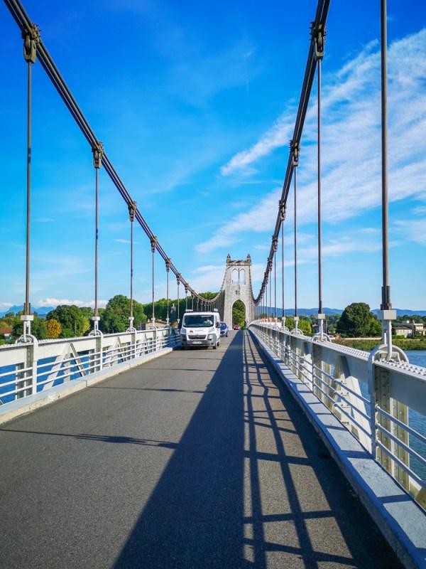 Rhone river old bridge