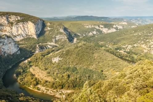 Ardeche river d290 view