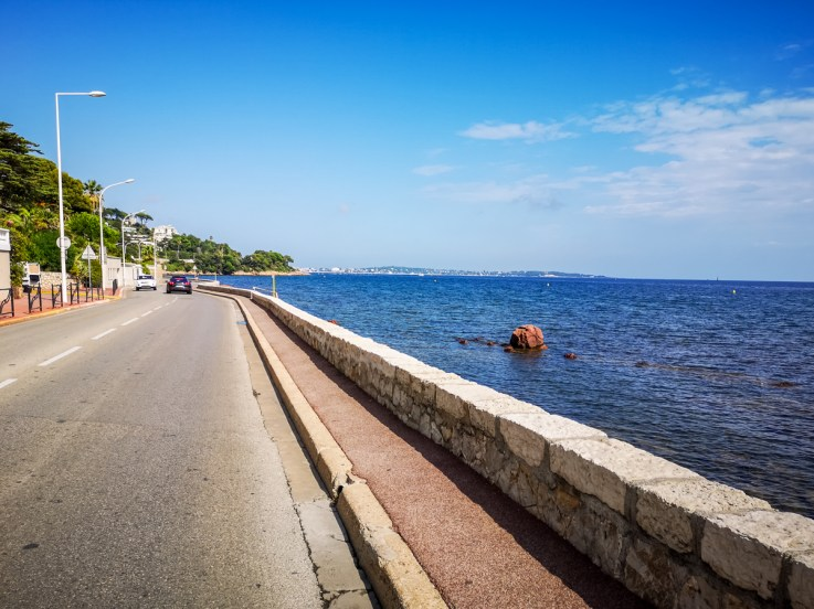 Cannes to Antibes bike touring