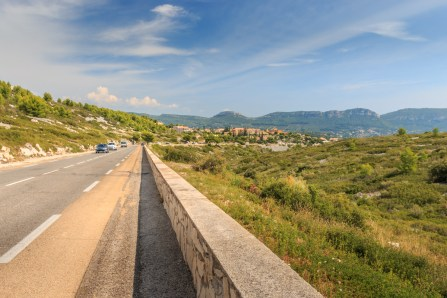 downhill to Cassis