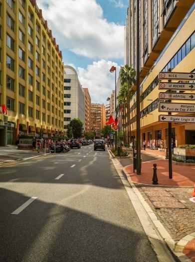 Bike touring Monaco streets