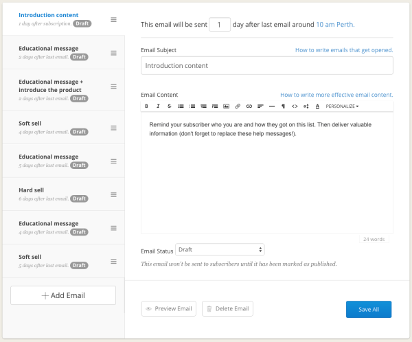 email funnel sequences