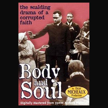 """A poster of Paul Robeson in """"Body and Soul,"""" directed by Oscar Micheaux in 1925."""
