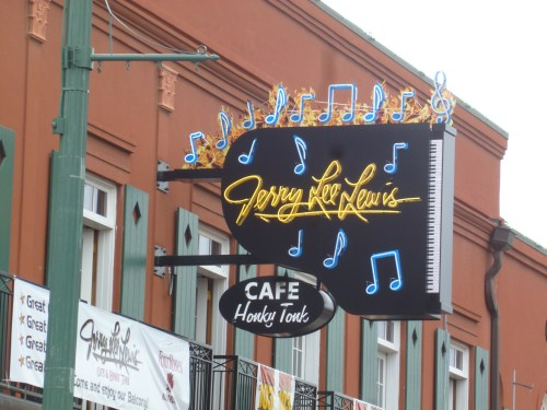 The new Jerry Lee Lewis Cafe sign