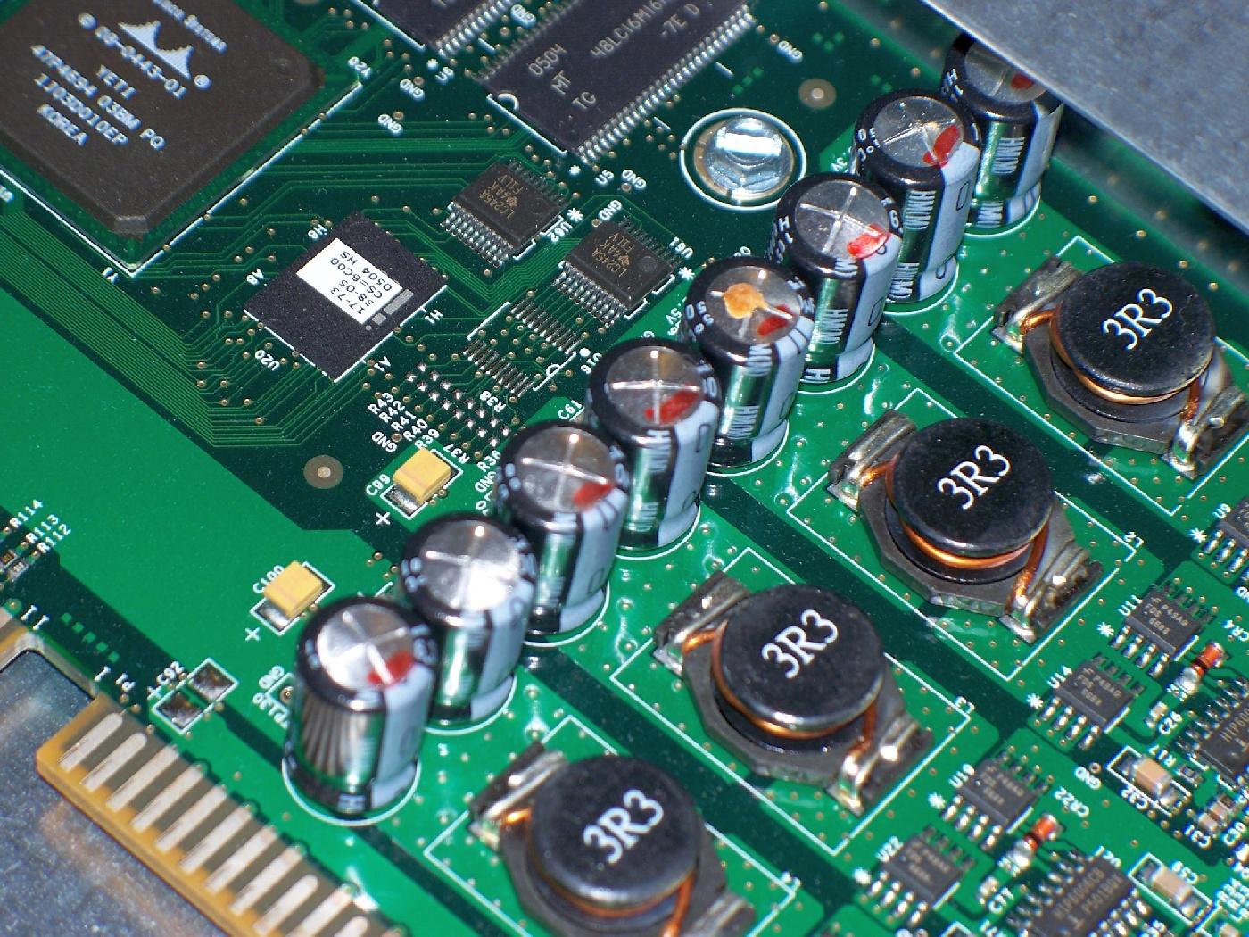 Cisco 3750 Fiber Switch BadLeaking Capacitors