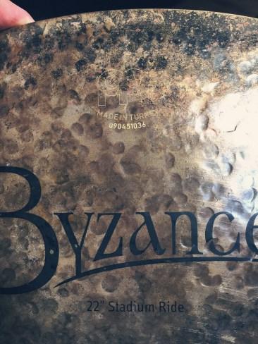 "22"" meinl cymbals byzance stadium ride"