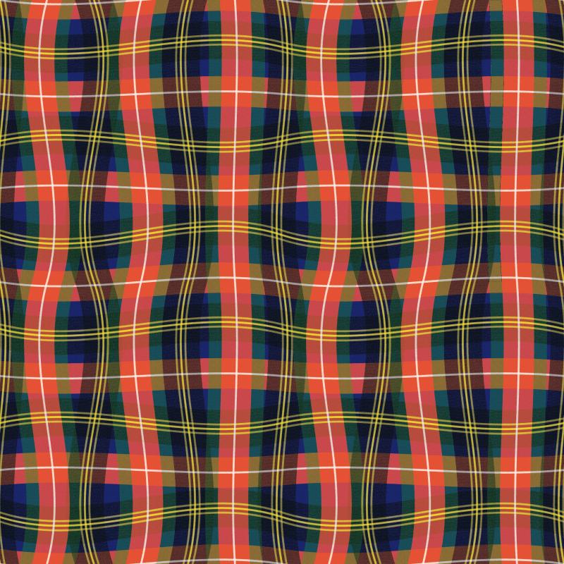 Paul S OConnor Bad Plaid Textile Print Pattern