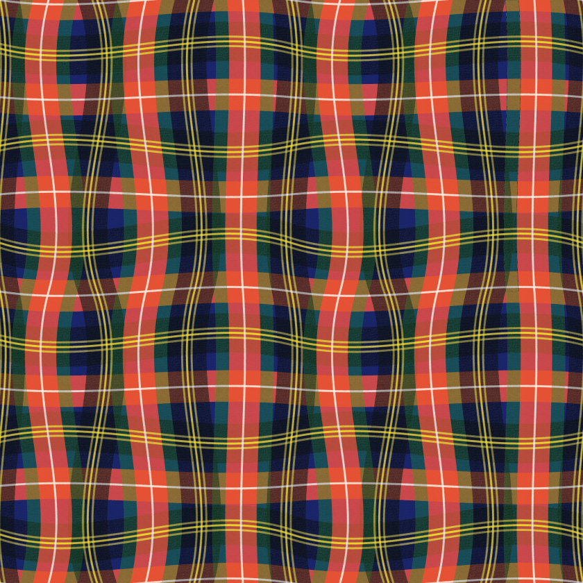 Paul S OConnor Bad Plaid Textile Print Pattern