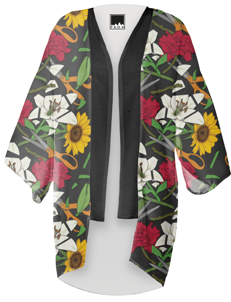 Paul S OConnor Fresh Cut Flowers Kimono Pattern PAOM
