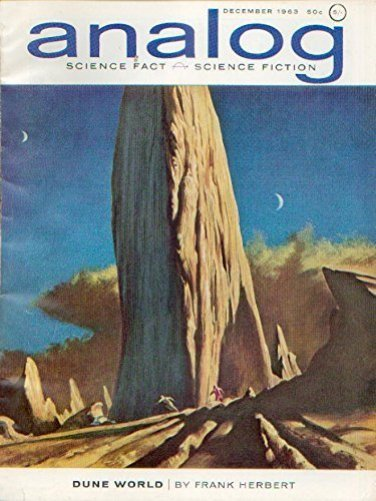 The cover of the original 1963 magazine edition of Dune.