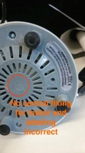Fake NutriBullet Fake CE sticker and sub standard base