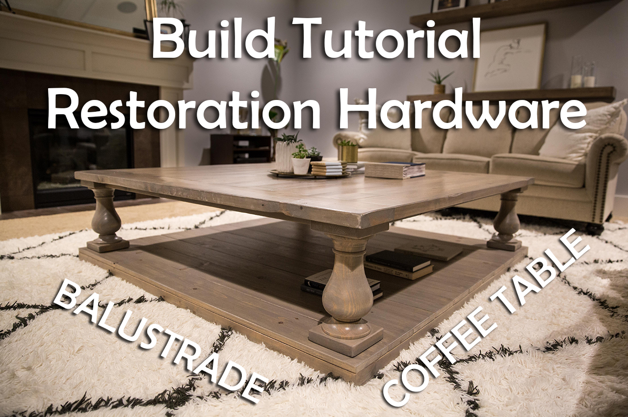 Exceptional Diy Restoration Hardware Balustrade Coffee Table