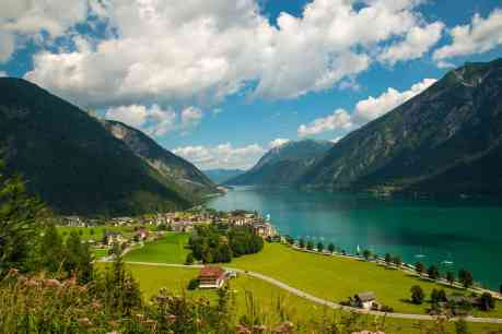 Achensee in the Tyrolean alps / View of the nice Achensee in the Tyrolean alps