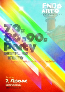 70er 80er 90er Party Plakat: Endart