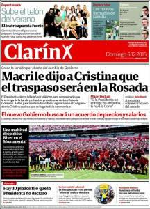 Clarín, 6/12/15.