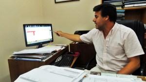Luis Moggi, gerente de la cooperativa de agua potable COSVEL de Vera.