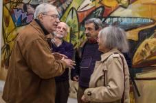 Encuentro de viejos conocidos: Roberto Maurer, Raúl Beceyro, Oscar Meyer y Beatriz Sarlo. Foto: Juan Martín Alfieri.