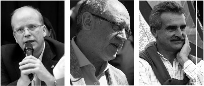 Luis Contigiani (Frente Progresista), Albor Cantard (Cambiemos) y Agustín Rossi (Frente Justicalista) lideran las tres principales listas.