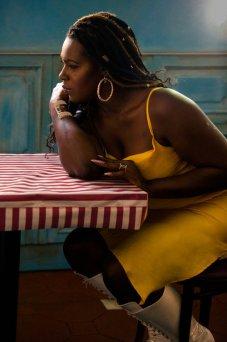 Shea Diamond posa para un retrato en la ciudad de Nueva York. Diamond, quien es transgénero, descubrió su voz mientras estaba en una prisión para hombres. Muchas de sus canciones son de reivindicación para la comunidad lgbtq. Foto: Annie Tritt.
