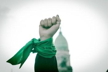 """La lucha por el aborto legal fue seguida paso a paso en Pausa, todas las notas del movimiento se pueden encontrar bajo la etiqueta """"aborto legal"""". Foto: Mauricio Centurión."""