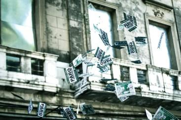 El 4 de abril los estatales de la provincia coparon las calles por segunda vez, en reclamo por el cierre por decreto de las paritarias. Foto: Mauricio Centurión.