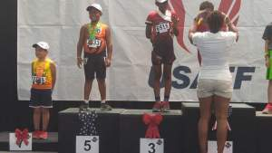 2016 JOs 9-10 Boys 1500m RW: Bishop-Amer Davis, MP Striders, 3rd Myles Martinez, Sacramento Speed Factory, 5th