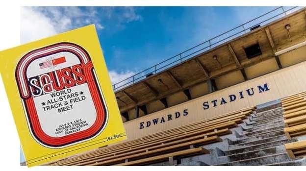 1971 Meet Program & Edwards Stadium Stands
