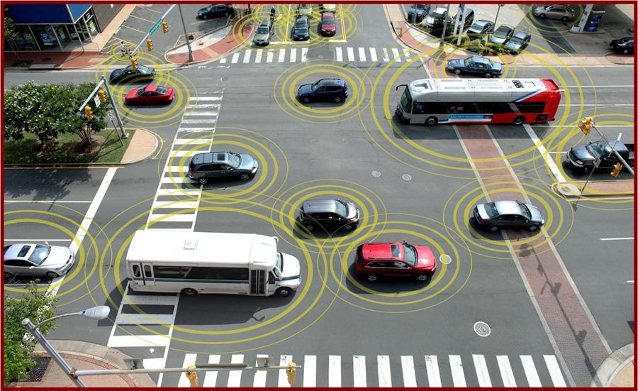 route, connectée, futur, ville, connectée