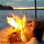 Vinterutsikt över Hundsjön, foto Roine Alenius