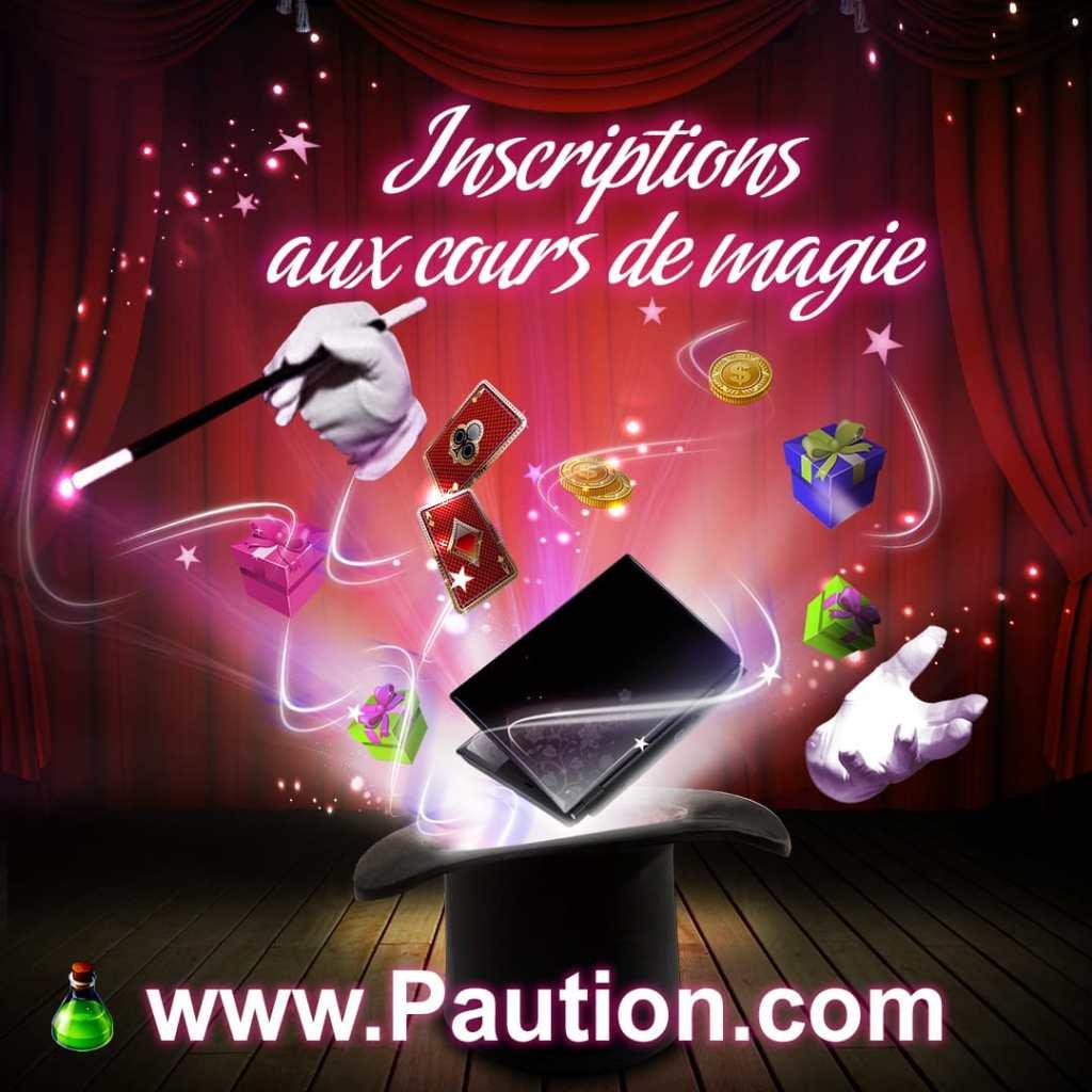 Inscrioptions aux cours de magie