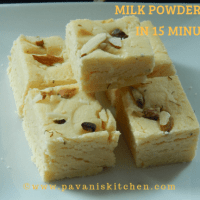 Milk Powder Burfi | Milk Powder Fudge in 15 minutes